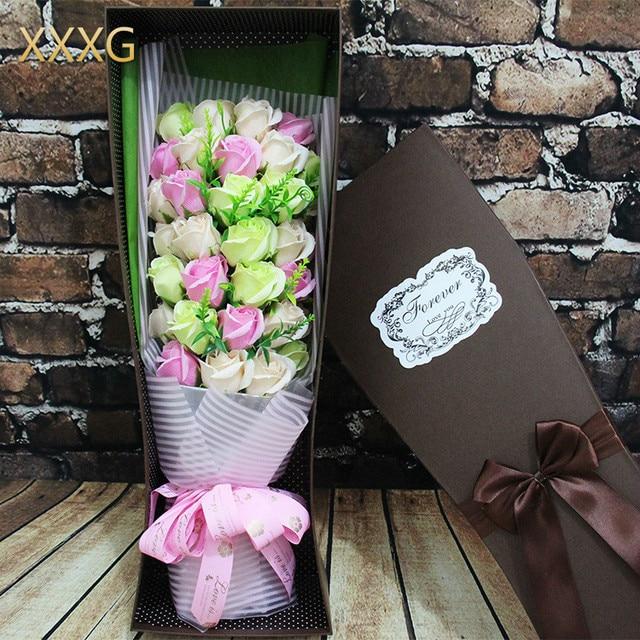 Xxxg Jour 33 Savon Fleur Bouquet De Roses Boite De Cadeau D