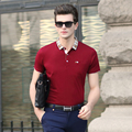 2016 New summer men's fashion solid color business casual short sleeve cotton polo shirts