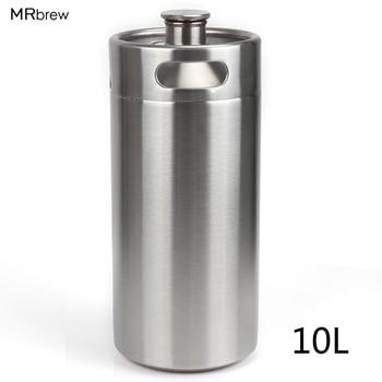 Stainless Steel 304 10L Mini Beer Keg Growler Wine Pot Unbreakable Home Brewing Beer Making Bar Tool