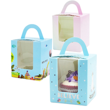 20 Pcs Paper Box With Window Handle Gift Packaging For Wedding Kids Birthday Party Unicorn Fashion Cupcake Holder