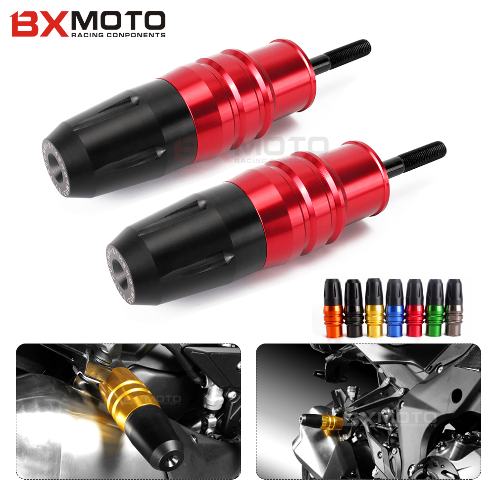 For Kawasaki Z1000 Z1000SX Z 1000 SX 2013-2017 Red Motorcycle Crash Pads Exhaust Sliders Crash Protector Motorcycle Accessories motorcycle accessories cnc engine cover frame sliders crash protector for kawasaki z1000sx z1000 sx 2014 2013 2012 2011