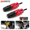 For Kawasaki Z1000 Z1000SX 2013 2015 Red Motorcycle Crash Pads Exhaust Sliders Crash Protector