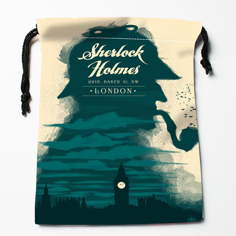 New Custom Sherlock Drawstring Bags Custom Storage Bags Storage Printed Gift Bags Compression Type Bags