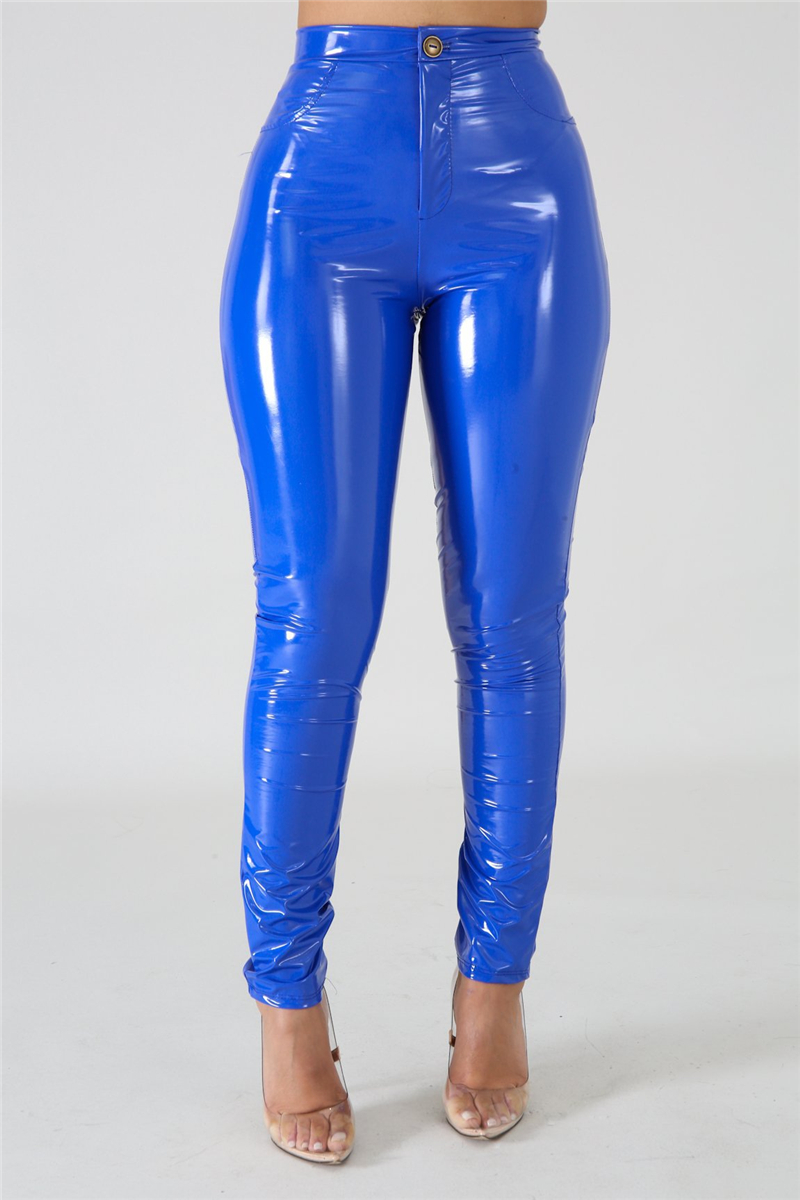 Adogirl Plus Size S-3XL Solid PU Leather Pants Warm Thick Highly Stretchy Fleece PU Pencil Pants Women Fashion Trousers Clubwear Pants & Capris Women Bottom ! Plus Size Women's Clothing & Accessories
