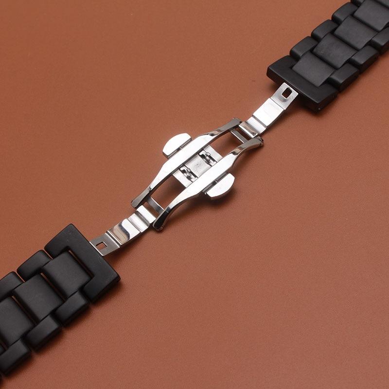 Matte Sort Armbåndsur av keramiske eller polerte klokker for smarte - Tilbehør klokker - Bilde 3