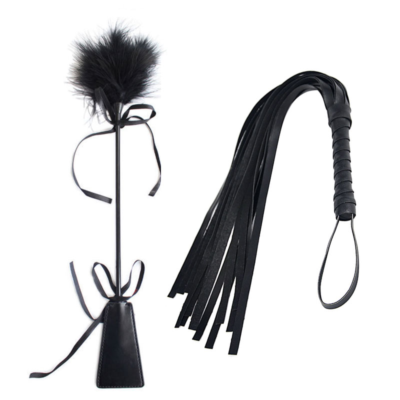 <font><b>Spanking</b></font> Whip Riding Crop Sex Bondage Flogger Adult SM Paddle Fancy <font><b>Dress</b></font> Faux Leather Whip Fetish Couples Fun Toys image