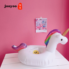 Hot Unicorn Mini Inflatable Shape Water Swimming Pool Drink Cup Stand Holder Float Toy Coasters For Water Beverage Beer Bottle цена
