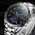 Top Luxury Brand LONGBO Watches Men Fashion Casual Quartz-Watch Men Stainless Steel Waterproof Watches Relogio Masculino LB8833