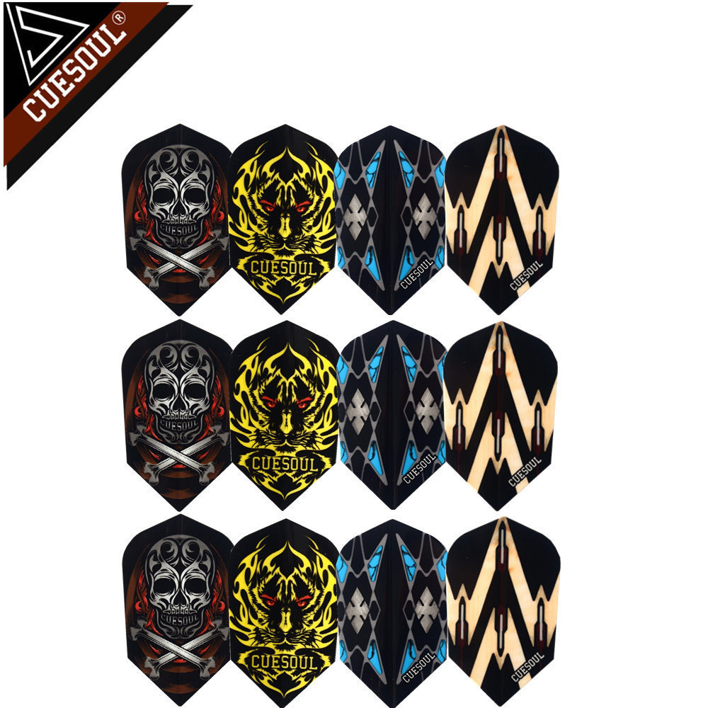 CUESOUL 12pcs 4 Sets Professional Dart Flights Dart Tails Wings With Very Good Quality