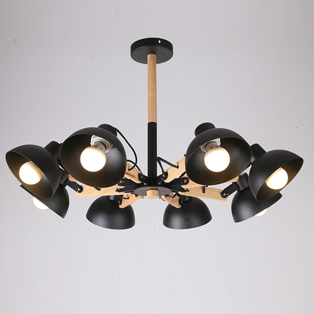 Free Shipping EMS Black Small Iron Bowl Chandelier Light For Dining Room  Lights