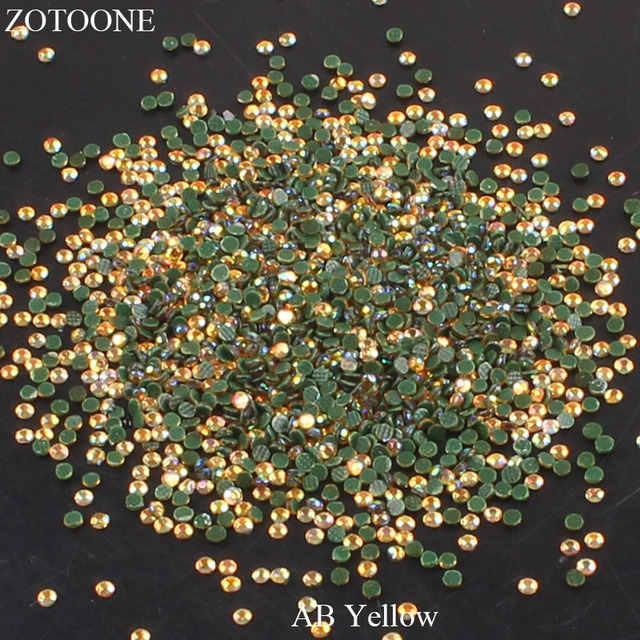 ffed853b68 US $0.45 25% OFF|ZOTOONE Hotfix Flatback Glass Yellow AB Rhinestones Stones  For Clothing DIY Nail Art Mobile Phone Craft Iron On Strass Crystals-in ...