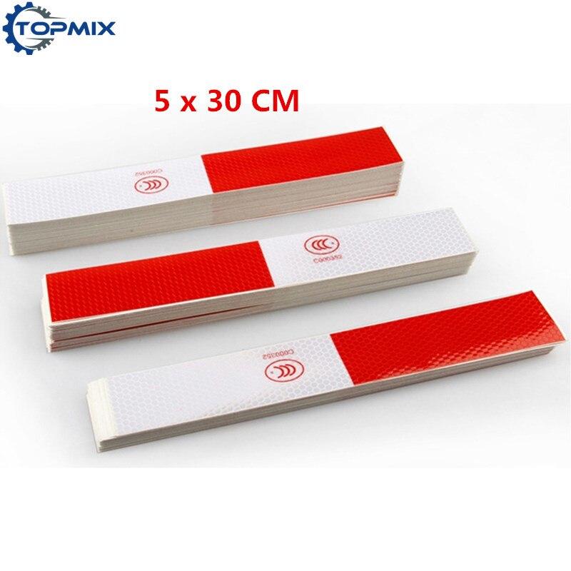 50pcs wholesale Car Styling Vinyl Film Strip truck warning Reflective tape Stickers Car Sticker Reflector