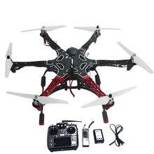 De $ number ejes Aviones RC Helicopter RTF Hexacopter Drone con AT10 TX/RX 550 Marco GPS APM2.8 F05114-AQ Batería Del Controlador de Vuelo