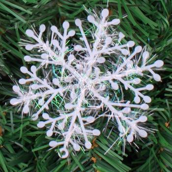 10/15/20/30 cm fiocchi di neve di natale appeso decorazione vetrofanie decorazione Di Natale neve fiore di goccia