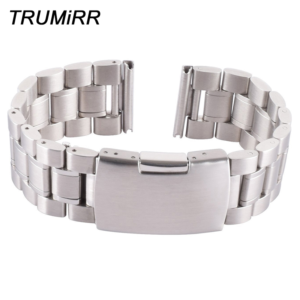 Stainless Steel Watch Band Bracelet 22mm Watchband for Motorola Moto 360 2 2nd Gen 46mm 2015 Samsung Galaxy Gear 2 R380 R381R382 метеостанция hettich 4925 06