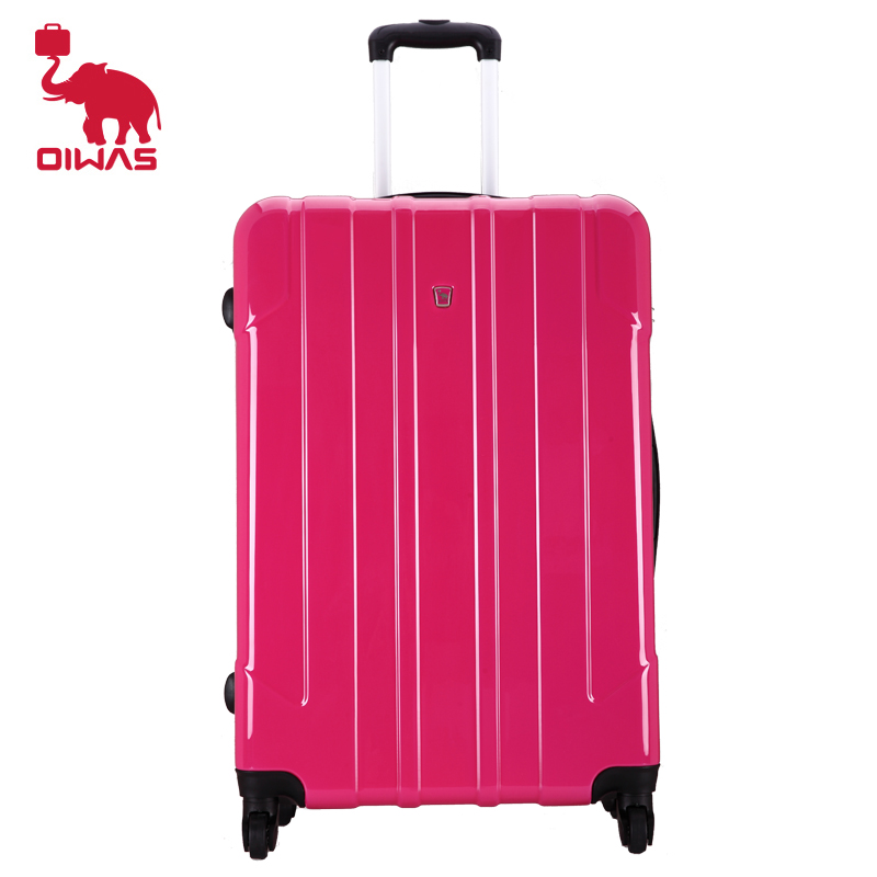 OIWAS Brand Rose Red 28 inch Rolling Luggage Case Travel Trip Business Spinner Wheel Trolley Large Capacity Suitcase oiwas top brand suitcase rolling luggage bag trolley 24 inch maletas spinner wheel customs lock business travel large capacity