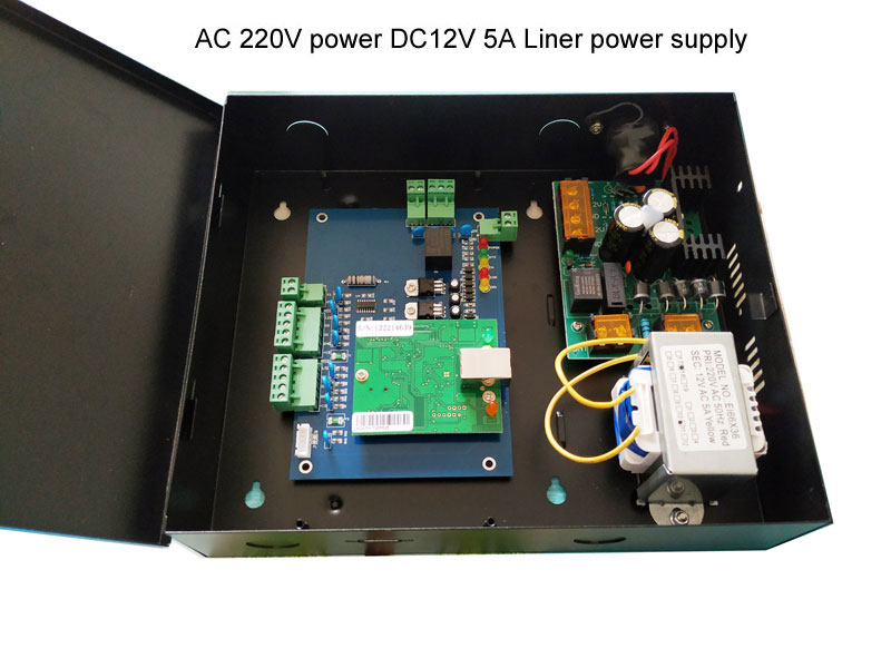 TCP one Door Access Control Board with Power Supply 110V/220V For Access Control System Wiegand Access Control Panel sn:L01_set