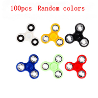 100pcs Lot Spinner Hand Finger Spinner Rotation ADHD Fingertips Relieve Stress Anti Stress Toys For Autism
