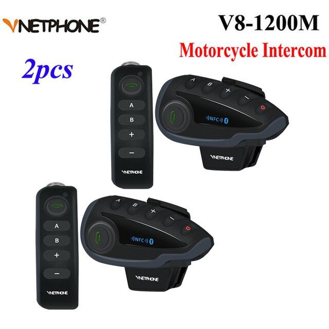 2 sztuk 5 zawodników V8 domofon Bluetooth kask NFC kierownica motocykla pilot komunikator kask z zestawem słuchawkowym z radiem FM