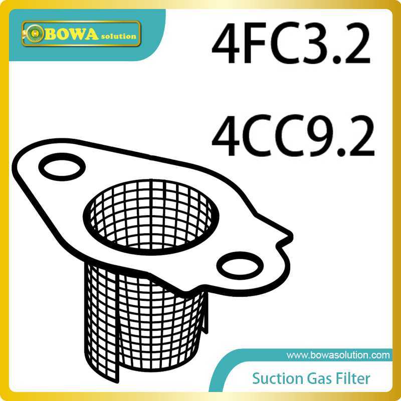 S4 Suction Gas filters for small Octagon piston compressor compatible with Bitzer 4FC3.2 and 4CC9.2 spare parts s4 2cylinder and small 4cylinders dia 41 piston with connection rod complete for bitzer semi hermetic compressor