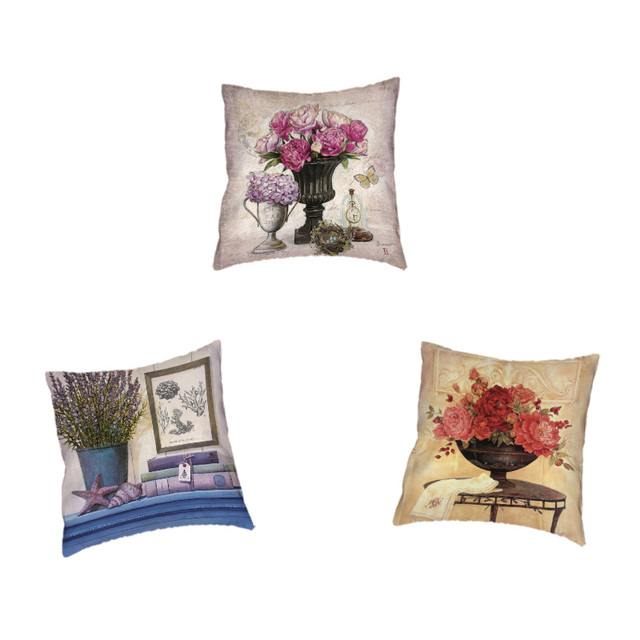 West Coast Western Style Home Living Room Decoration Pillowcase Rose