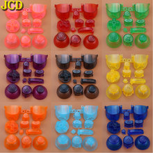 JCD Full set D Pads Power ON OFF Button for GameCube A B X Y L R Buttons with 3D Joystick Cap For NGC solid color