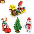 LOZ Christmas Gifts Santa Claus Deer Socks Snowman Bear Building Blocks Toys for Children Christmas Birthday Christmas Xmas Gift