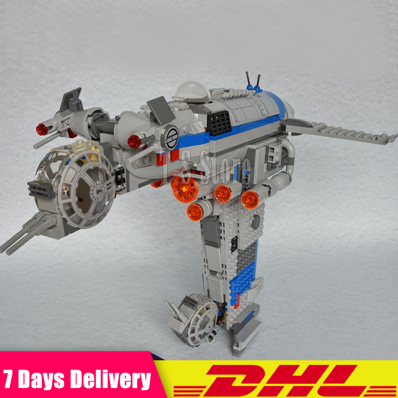 DHL IN Stock LEPIN 05129 Star 873 PCS Series Wars The Resistance Bomber Set Building Blocks Bricks Set DIY Toys Fit for 75188 dhl in stock lepin 16013 the lord of the rings 1368pcs series the battle of helm deep model building blocks bricks toys
