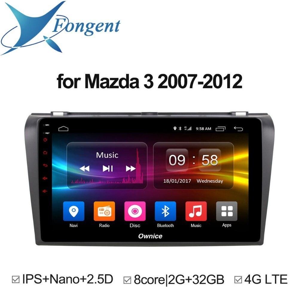 For Mazda 3 2007 2008 2009 2010 2011 2012 android Unit car dvd Video Stereo Radia player V