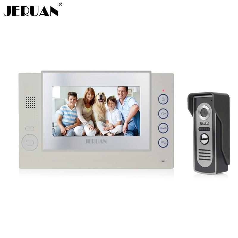 JERUAN 7 inch video door phone doorbell intercom system video doorphone speaker intercom recording free shipping