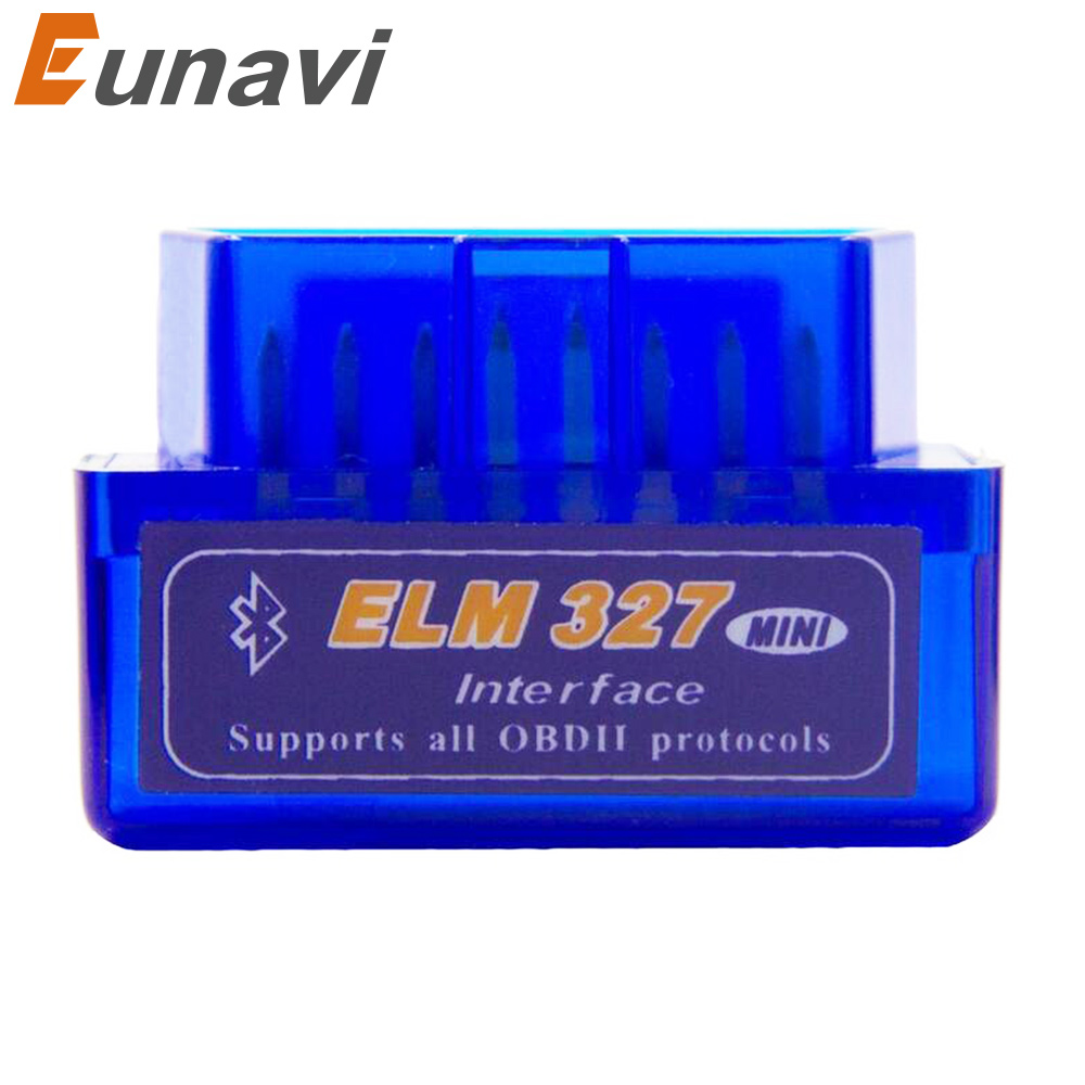 цена на Eunavi MINI ELM327 Bluetooth V1.5 ELM 327 Interface OBD2/OBD II Auto Code Scanner
