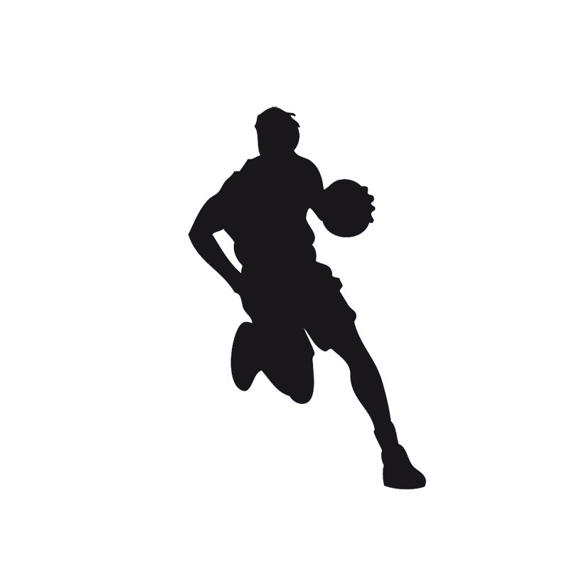 8.9*14.3CM Creative Basketball Player Dribbling The Vinyl