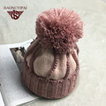 Winter Wool Pompom Hats Warm Plus Balaclavas Caps Acrylic Cotton Knitted Beanies For Women Girls Adult Casual Hip Hop Cap  ZM26