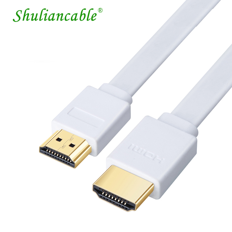 Shuliancable Flat <font><b>HDMI</b></font> Cable High Speed Male to Male <font><b>HDMI</b></font> CABLE1080P4K 3D for HDTV XBOX <font><b>PS</b></font> computer Projector 0.3m 1m 1.5m 2m 3m image