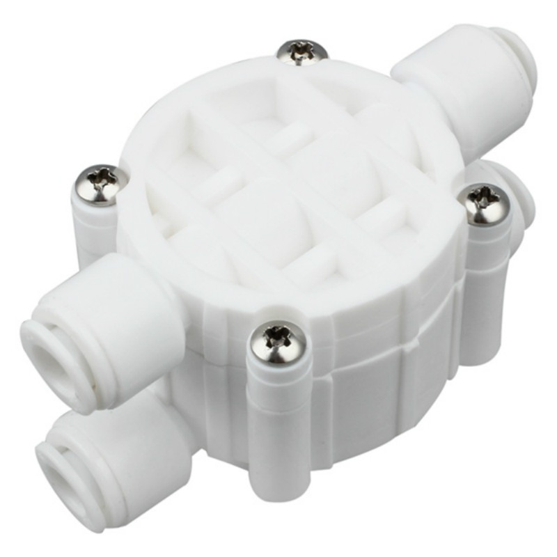 Reverse Osmosis 4 Way Auto Shut Off Valve For Systems / Window Cleaning