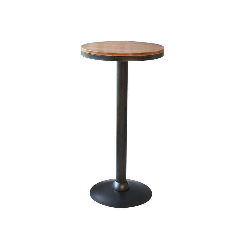 Современные ровные цилиндры стул и стол PU и железа арт Кофейня роскошный стиль высокий табурет стол стул набор обеденный стол стул