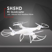 SH5HD 2.4G Smart Mini Drone RC Quadcopter Altitude Hold Headless Mode One Key Return LED Light Speed Remote Control Drone Toys