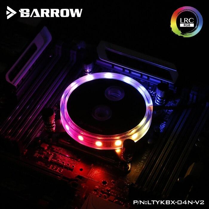 Brouette LTYKBX-04N-V2 CPU bloc d'eau pour Intel LGA X99/X299 plate-forme refroidisseur de processeur RGB lumière PC watercooling gadget avec contrôleur