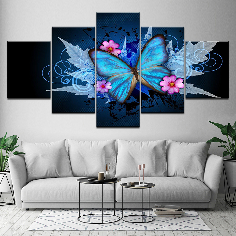 Painting On Canvas Home Decoration Modern Posters 5 Panel ...