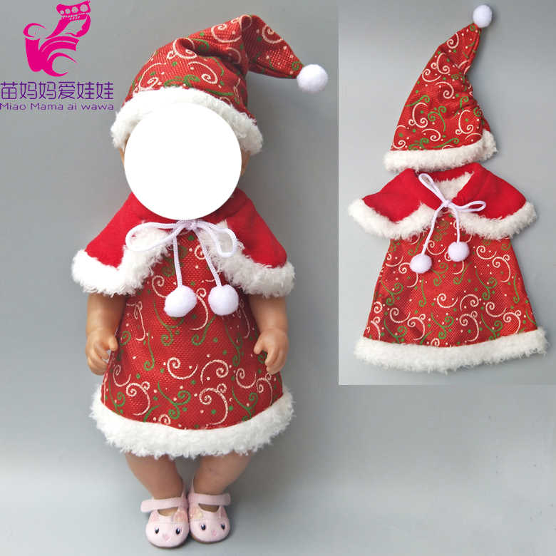 Vestido da boneca de inverno calças lenço de base para 18 polegada boneca da menina Roupas da menina das crianças Christamas presente de ano Novo