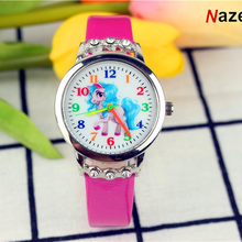 A popular children's cartoon unicorn diamond watch girl students