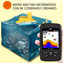 LUCKY FF718LiCD 2.8″ Color LCD Portable Fish Finder 200KHz/83KHz Dual Sonar 328ft/100m Depth Finder Alarm Fish Detector