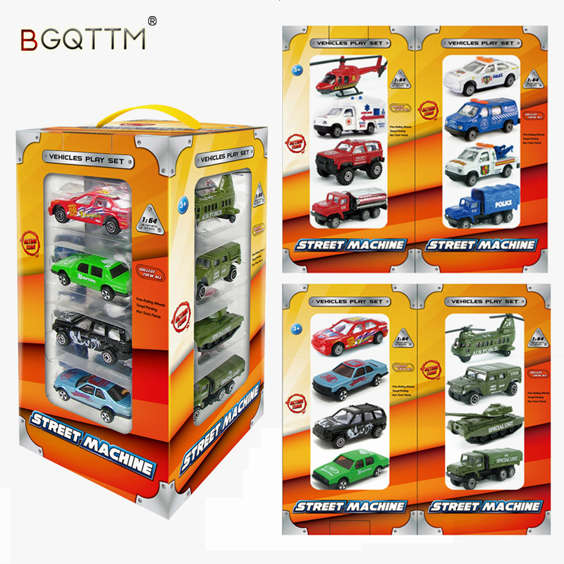 Hot 16PCS Children Senior Gift Diecasts Alloy Model Car Army City Boy Dinky Toy miniatura de carro Wheels Cars Vehicle toy Kids
