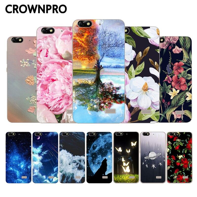 CROWNPRO Huawei Honor 4C CHM U01 font b Phone b font Case Cover Silicone TPU Back
