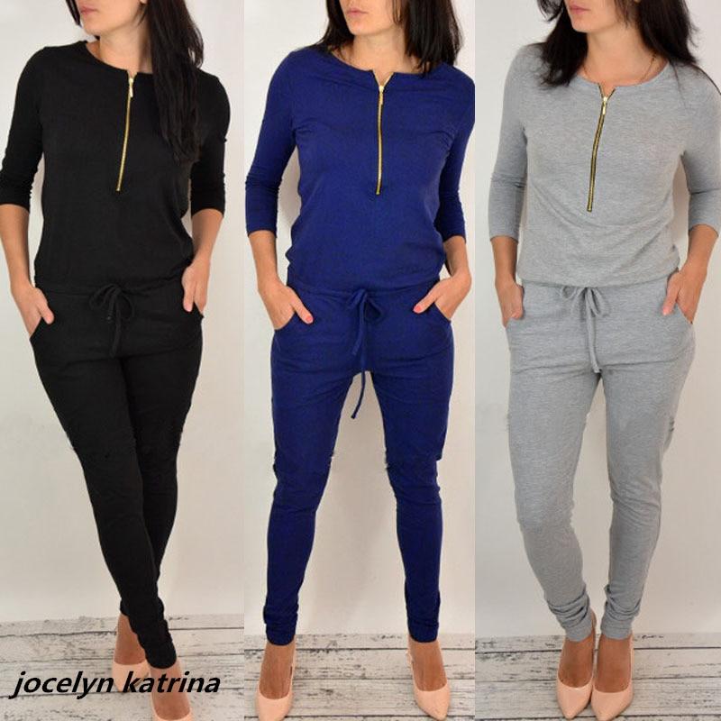 jocelyn katrina brand New fashion design 2017 casual elegant full length jumpsuit overalls for women Jumpsuits