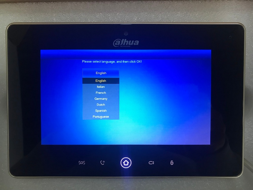 Ahua Multi-Langue VTH5221D-CW vidéo interphone écran tactile Couleur Moniteur D'intérieur, 1MP caméra, WIFI connecter