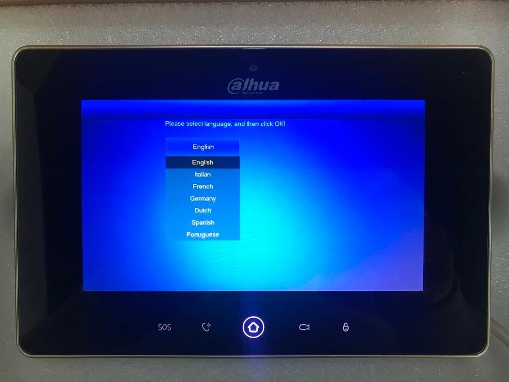 Ahua Originale Multi-Lingua VTH5221D-CW video citofono touch screen a Colori Monitor Dell'interno, 1MP macchina fotografica, WIFI collegare