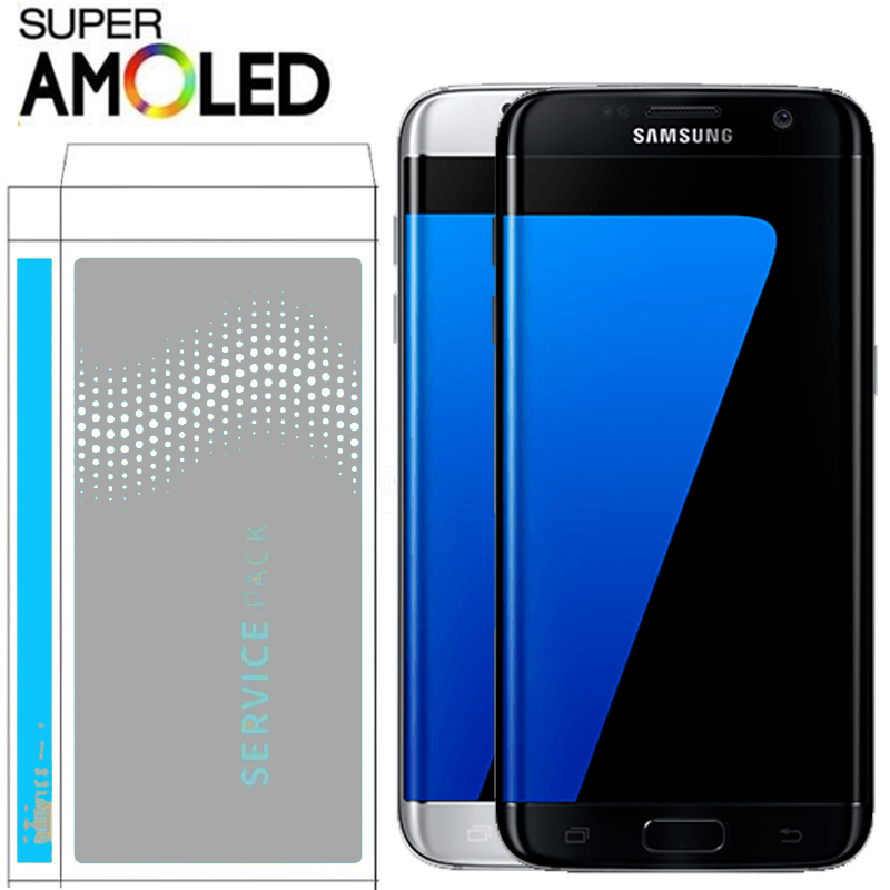 100% ORIGINAL 5.5'' LCD With Frame For SAMSUNG S7 Edge Pantalla G935F G935FD Touch Screen Digitizer Assembly