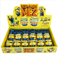 12pcs/lot Single Laser LED Gyro Music Despicable Me colorful Light flash gyro electric toy Minions gyroscope baby kids gift toys