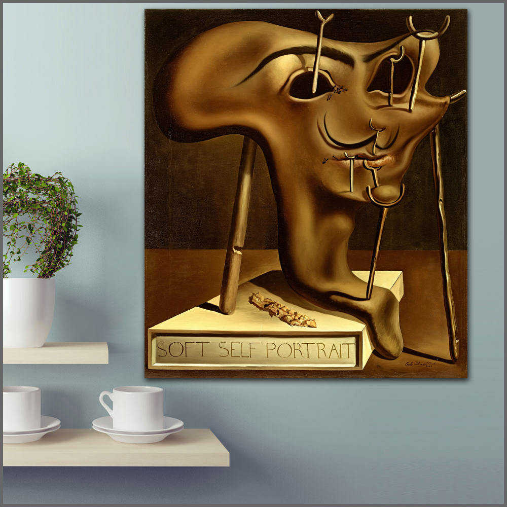 Woman Standing At Window  Canvas Wall Art Picture Print Salvador Dali